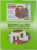 Metcalfe PO263 Red Brick Corner Shop